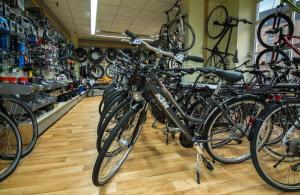 Fahrradreihe Vorn